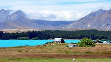 Free Lake Tekapo And The Church Of Good Shepard. Royalty Free Stock Photo - 15675055