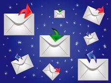 Free Postal Envelopes On Turn Blue Stock Photo - 15675600