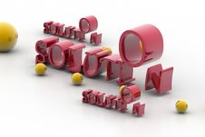 Word Solution And Balls Stock Images