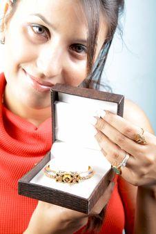 Wedding Jewellery Gift Stock Photo