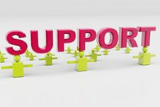 Support And Business Connection Stock Photo