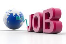 Job And World Stock Photo