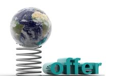 Free Globe And Offer Stock Image - 15676571