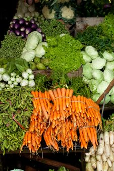 Fresh Vegetables At The Market Stock Photos