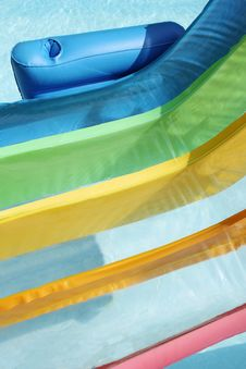 Free Inflatable Chair In Pool Close Up Stock Image - 15677371