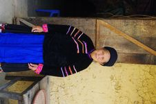 Ethnic Group Pu Peo Grandma Stock Photos