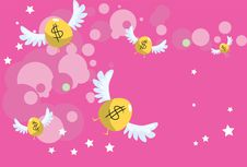Free The Money Fly Into Your Bank Account Stock Image - 15677451