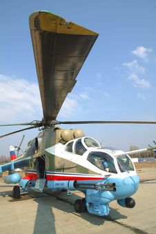 Free Russian Military Helicopter Mi-24 Stock Image - 15677541