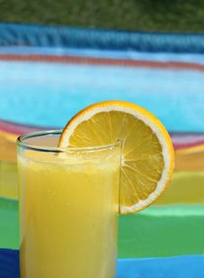 Summer Drink In Swimming Pool Stock Image