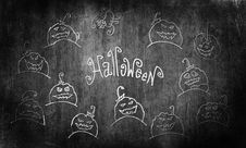 Halloween Grunge Illustration. Royalty Free Stock Photo