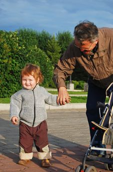 Free Grandfather And Grandson Stock Images - 15677984