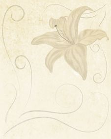 Free Retro Style Lily Background Stock Image - 15678071