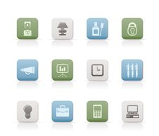 Free Business And Office Icons Royalty Free Stock Photo - 15678555