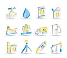 Free Oil And Petrol Industry Objects Icons Royalty Free Stock Photography - 15678567
