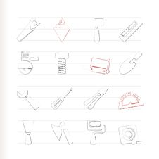 Free Building And Construction Tools Icons Royalty Free Stock Photography - 15678617