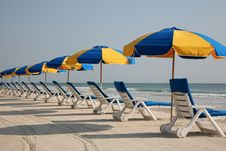 Free Beach Chairs In The Sand Stock Photos - 15678863
