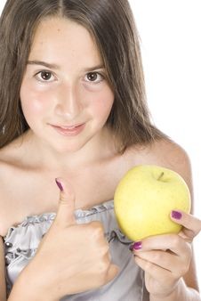 Free Girl With Apple Stock Photo - 15679000