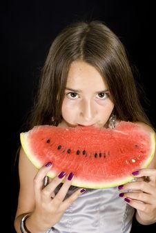 Free Girl Eating Royalty Free Stock Photo - 15679045