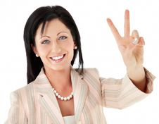 Free Woman Victory Peace Sign Stock Photo - 15679200