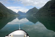Free Reflections In Fjaerlandsfjord, Norway Stock Photo - 15679210