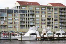 Free Waterside Condos And Marina Stock Image - 15679261