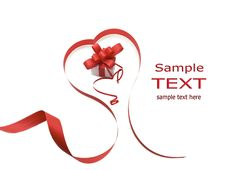 Free Gift Box And Red Ribbon Royalty Free Stock Photography - 15679687