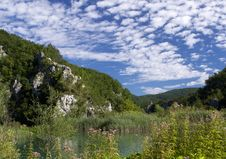 Lake  In Plitvice Royalty Free Stock Image
