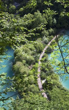 Lake  In Plitvice Stock Photography