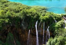 Lake And Waterfall In Plitvice Royalty Free Stock Image