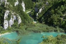 Lake  In Plitvice Royalty Free Stock Photo