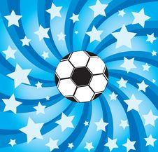 Free Soccer Ball On Stars Background Royalty Free Stock Photography - 15679957
