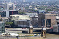Free Buses Crossing Tower Bridge And Buildings Stock Photo - 15681540