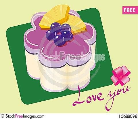 Free Purple Blueberries Cake Royalty Free Stock Photos - 15688098