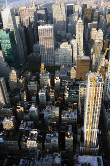 Free Aerial View Of Manhattan Royalty Free Stock Image - 15681206