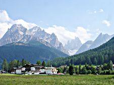 Free View Of The Sexten Dolomites Royalty Free Stock Photos - 15681438