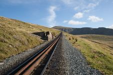 Mountain Railway. Royalty Free Stock Images