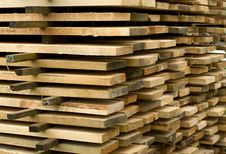 Stack Of Boards. Royalty Free Stock Image