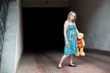 Free Woman And Teddy-bear Stock Photos - 15682263