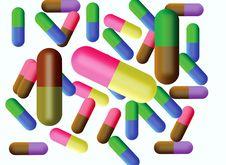Free Varicoloured Tablets In Capsule Stock Image - 15682551