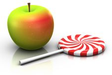 Free Apple And Lollipop Stock Image - 15682601