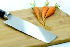 Free Japanese Knife And Carrots Stock Images - 15682914