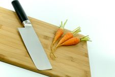 Free Japanese Knife And Carrots Royalty Free Stock Photography - 15682917