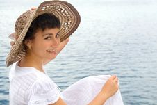 Free Happy Young Girl In The Bonnet Royalty Free Stock Image - 15682976