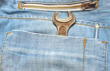 Free Tools In A Blue Jeans Pocket Royalty Free Stock Photo - 15683085