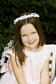 Free Smiling Little Girl Stock Photography - 15683092