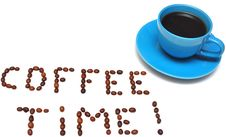 Free Words Coffee Time Royalty Free Stock Photo - 15683355