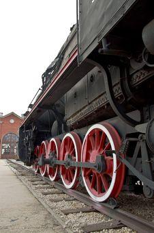 Free Old Locomotive Wheels Stock Photography - 15683792