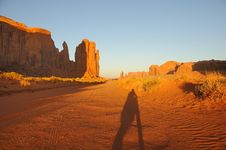 Free Monument Valley Sunset Stock Image - 15685081