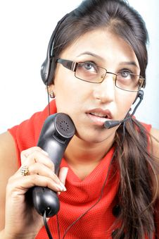 Free Busy Call Center Executive Stock Photo - 15685280