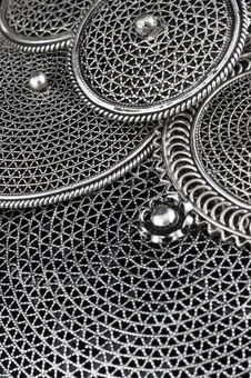 Free Mixture Of Silver Pendents Royalty Free Stock Image - 15685396